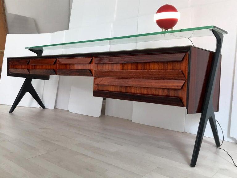 Italian Midcentury Sideboard or Vanity Dresser by Vittorio & Plinio Dassi, 1950s For Sale 1