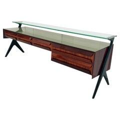 Italian Midcentury Sideboard or Vanity Dresser by Vittorio & Plinio Dassi, 1950s