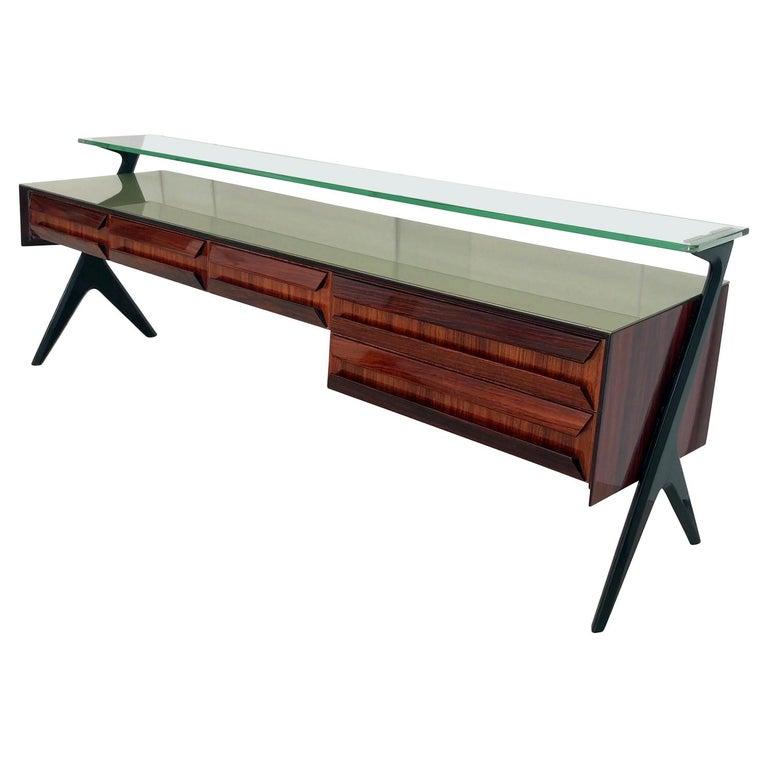 Italian Midcentury Sideboard or Vanity Dresser by Vittorio & Plinio Dassi, 1950s For Sale