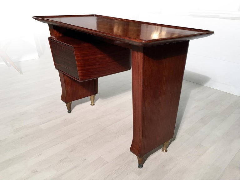 Mid-Century Modern Italian Midcentury Small Writing Desk by Vittorio Dassi, 1950s For Sale