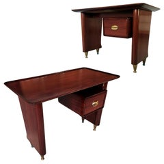 Italian Midcentury Small Writing Desk by Vittorio Dassi, 1950s