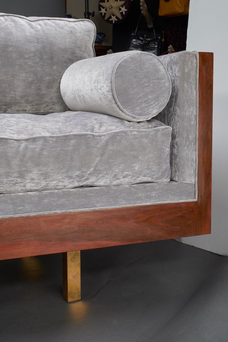 Mid-20th Century Italian Midcentury Sofa in Walnut For Sale