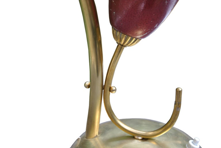 Mid-20th Century Italian Midcentury Table Lamp after Angelo Lelli for Arredoluce in Brass, 1950s For Sale