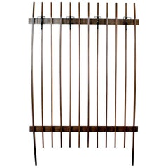 Italian Midcentury Teak Wall Coat Rack or Wardrobe