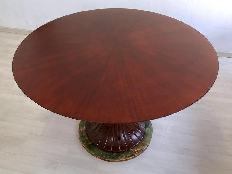 Italian Mid-Century Teak Wood Dining Table by Vittorio Dassi, 1950s For Sale 4