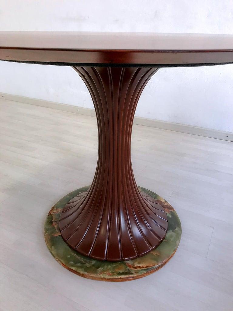 Italian Mid-Century Teak Wood Dining Table by Vittorio Dassi, 1950s For Sale 5