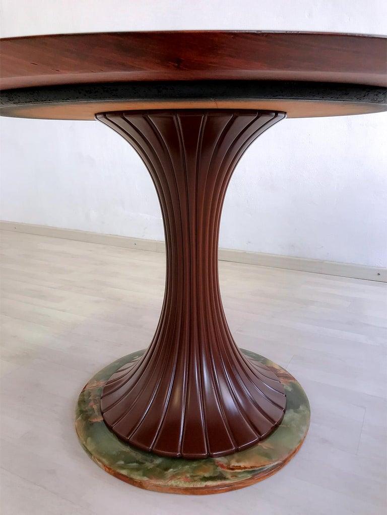 Italian Mid-Century Teak Wood Dining Table by Vittorio Dassi, 1950s For Sale 6