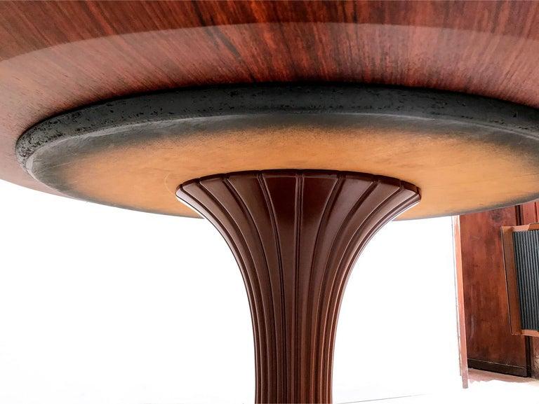 Italian Mid-Century Teak Wood Dining Table by Vittorio Dassi, 1950s For Sale 7
