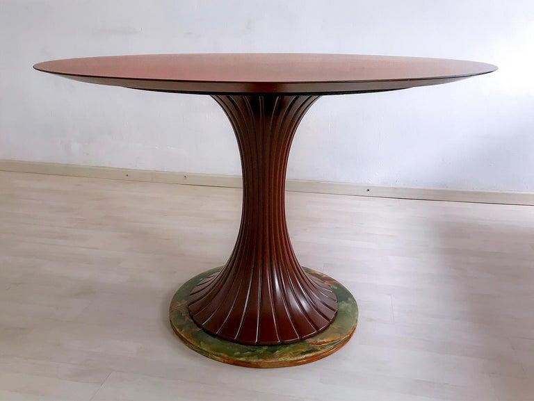 Mid-Century Modern Italian Mid-Century Teak Wood Dining Table by Vittorio Dassi, 1950s For Sale