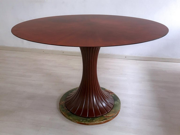 Mid-20th Century Italian Mid-Century Teak Wood Dining Table by Vittorio Dassi, 1950s For Sale