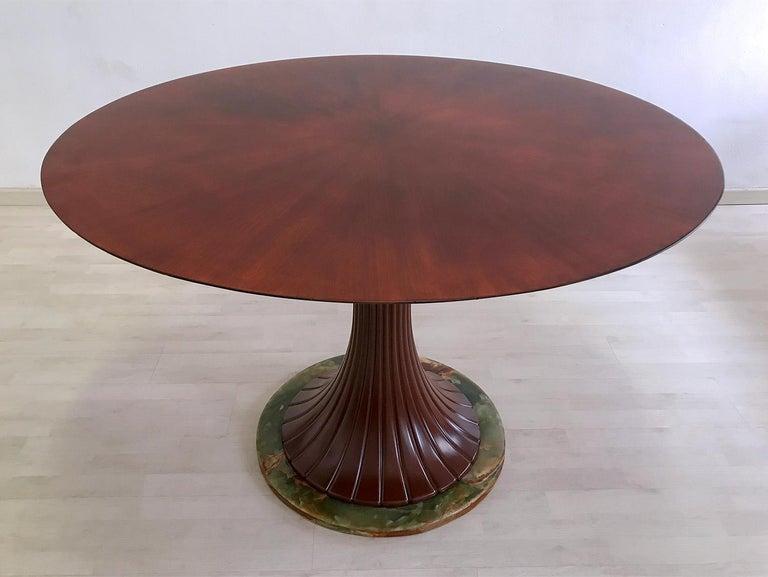 Italian Mid-Century Teak Wood Dining Table by Vittorio Dassi, 1950s For Sale 1