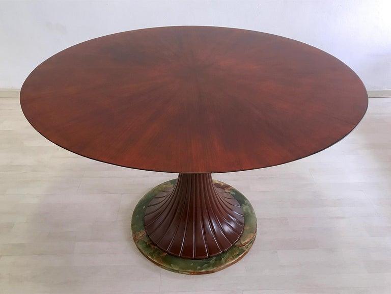 Italian Mid-Century Teak Wood Dining Table by Vittorio Dassi, 1950s For Sale 2