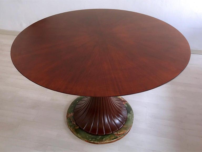 Italian Mid-Century Teak Wood Dining Table by Vittorio Dassi, 1950s For Sale 3