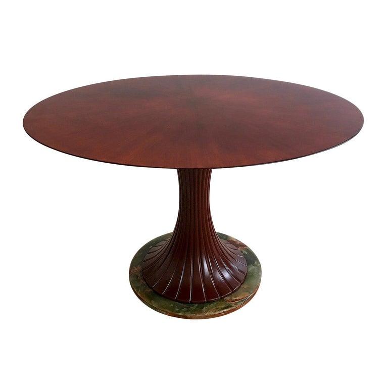 Italian Mid-Century Teak Wood Dining Table by Vittorio Dassi, 1950s For Sale