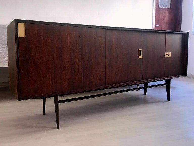 Italian Midcentury Teakwood Sideboard by Vittorio Dassi, 1950s 3