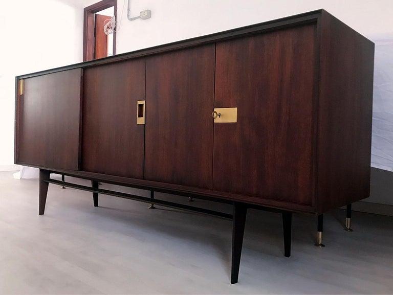 Mid-Century Modern Italian Midcentury Teakwood Sideboard by Vittorio Dassi, 1950s