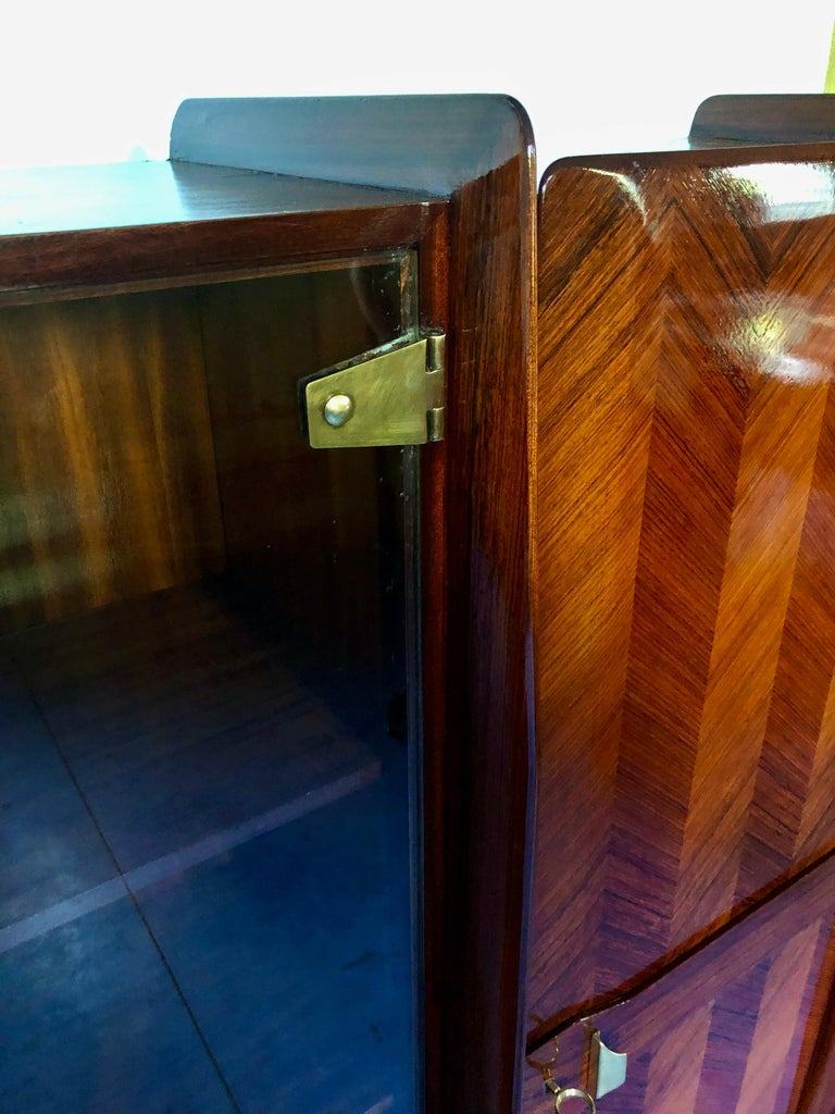 Italian Midcentury Teakwood Sideboard or Bookcase by Vittorio Dassi, 1950s For Sale 5