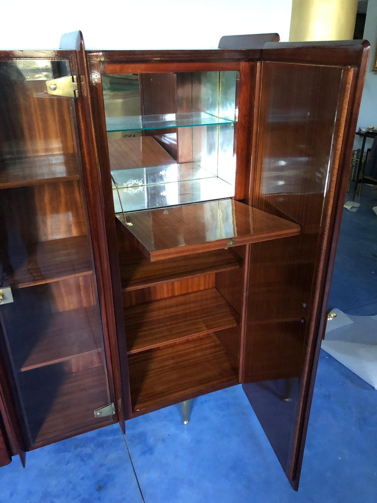 Italian Midcentury Teakwood Sideboard or Bookcase by Vittorio Dassi, 1950s For Sale 11