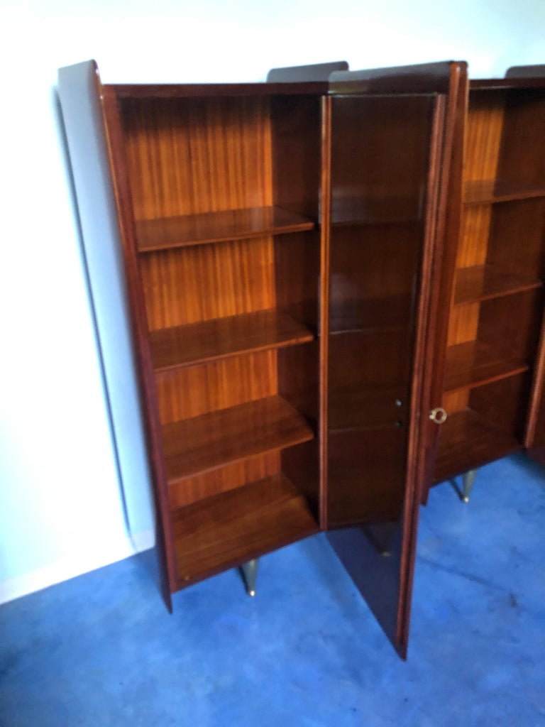 Italian Midcentury Teakwood Sideboard or Bookcase by Vittorio Dassi, 1950s For Sale 13