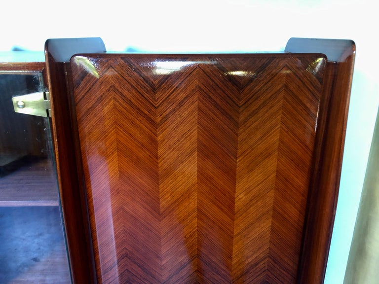Italian Midcentury Teakwood Sideboard or Bookcase by Vittorio Dassi, 1950s For Sale 1