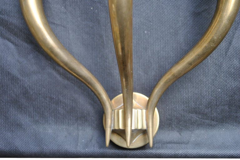 Italian Midcentury Wall Light After Gio Ponti for Fontana Arte in Brass, 1950s For Sale 1