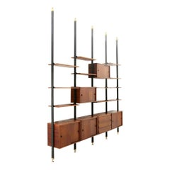 Italian Midcentury Wall Unit in Teak, 1960s