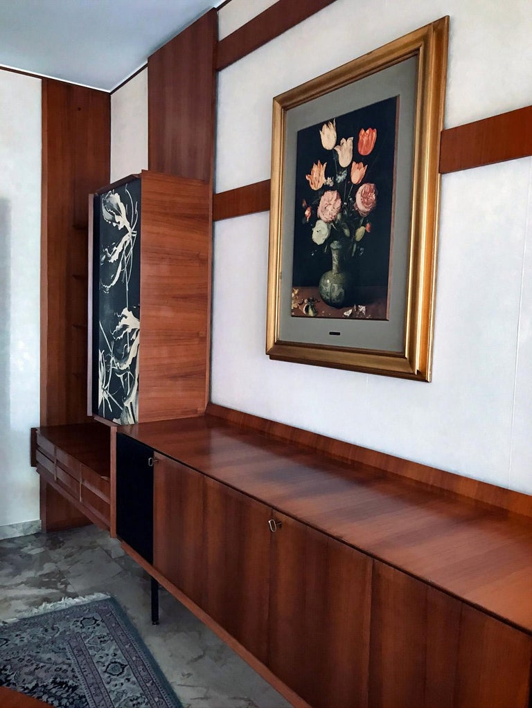 Italian Midcentury Wall Unit or Bookcase by Vittorio Dassi, 1950s In Good Condition For Sale In Traversetolo, IT