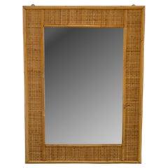 Italian Midcentury Wicker Mirror Late 60's