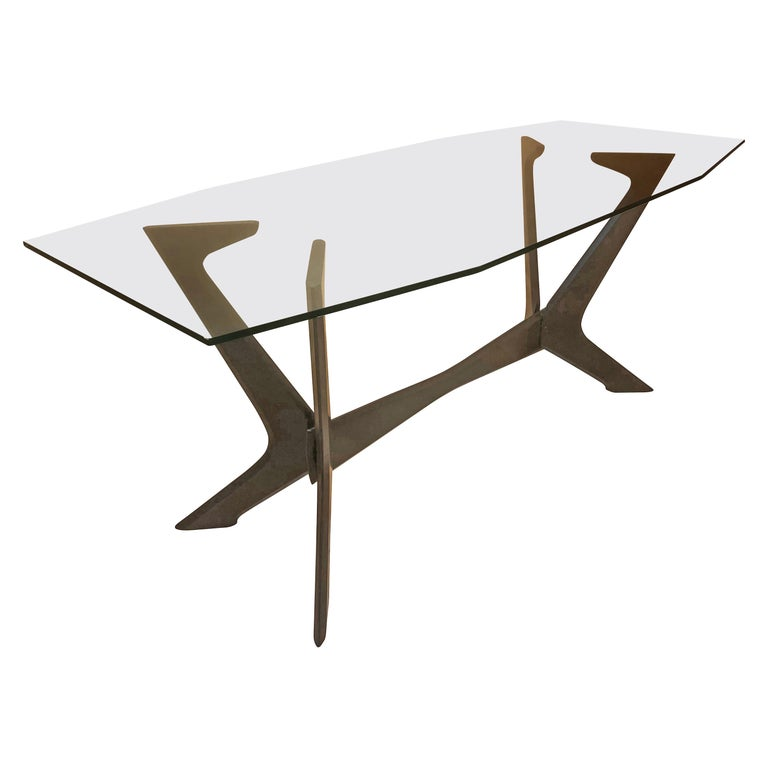 Italian Midcentury Wood Dining Table For Sale