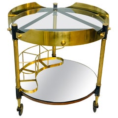 Italian Mirror and Glass Bar Cart