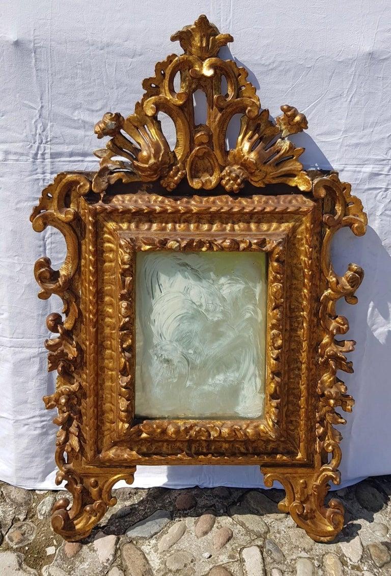 Italian Mirror Carved Giltwood Italy 18th Century