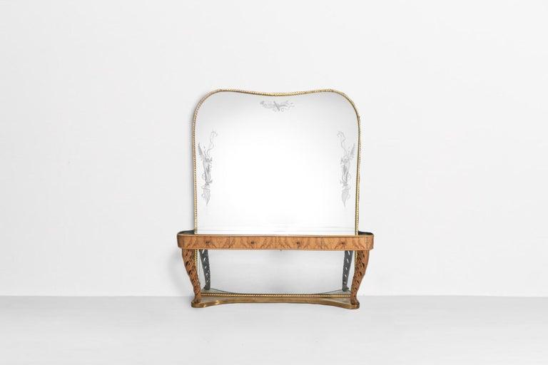 Italian mirror console by Pier Luigi Colli from 1960s.