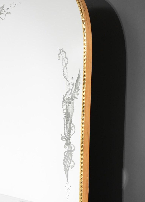 Italian Mirror Console by Pier Luigi Colli, 1960s In Good Condition For Sale In Lyon, FR