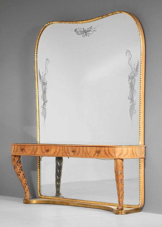 Italian Mirror Console by Pier Luigi Colli, 1960s For Sale 2