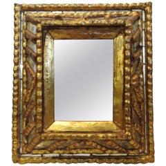 Italian Mirror with Gilt Midcentury