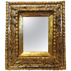 Italian Mirror with Gilt Midcentury