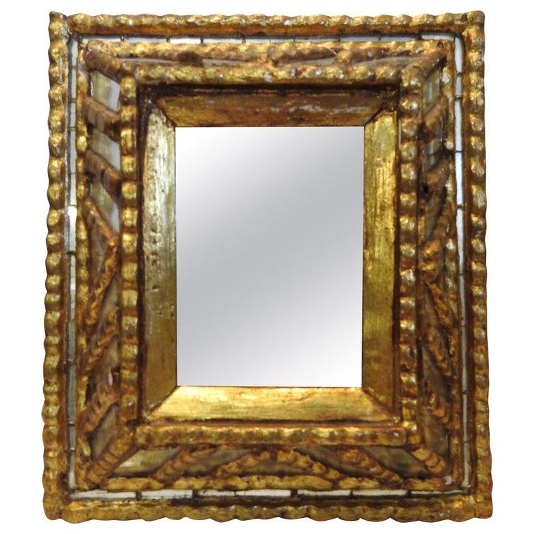 Italian Mirror with Gilt Midcentury For Sale