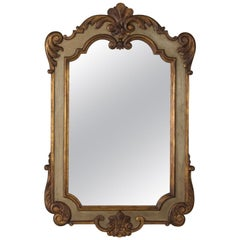 Italian Mirror with Painted Wooden Frame, circa 1925