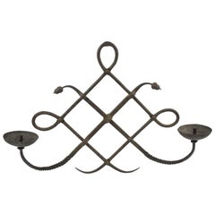 Italian Modarchitectura Wrought Iron Wall Mounted Candleholder Sconce