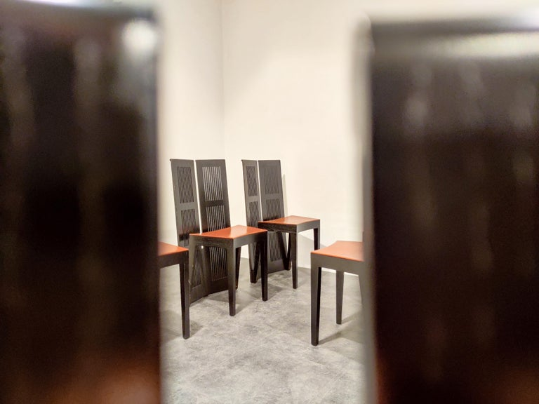 Italian Model Lubekka Dining Chairs by Andrea Branzi for Cassina, 1990s Set of 6 9