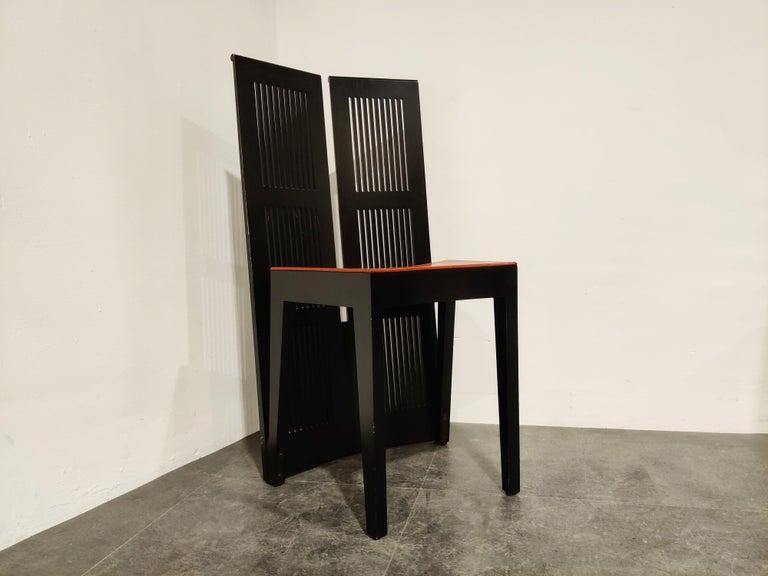 Italian Model Lubekka Dining Chairs by Andrea Branzi for Cassina, 1990s Set of 6 2