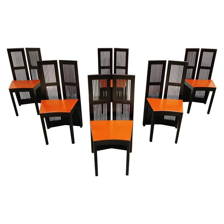Italian Model Lubekka Dining Chairs by Andrea Branzi for Cassina, 1990s Set of 6