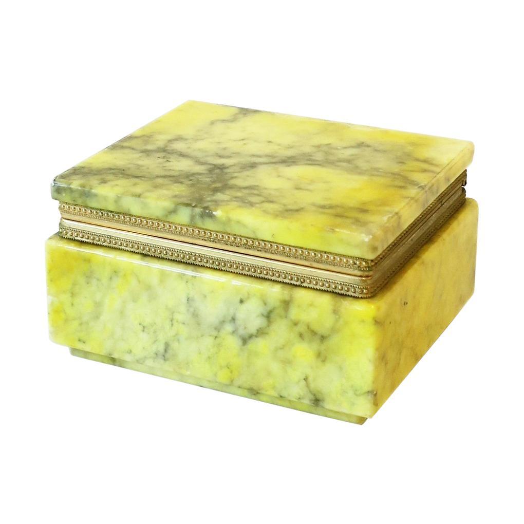 Italian Modern Alabaster Marble Jewelry Box