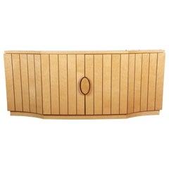 Italian Modern Art Deco Bird's-eye Maple Sideboard Credenza or Bar Cabinet
