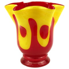 Italian Modern Art Glass Handkerchief Vase