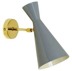 Italian Modern Brass and Enamel Wall Sconce by Fabio Ltd