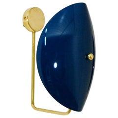 Italian Modern Brass and Enamel Wall Sconce by Fabio Ltd