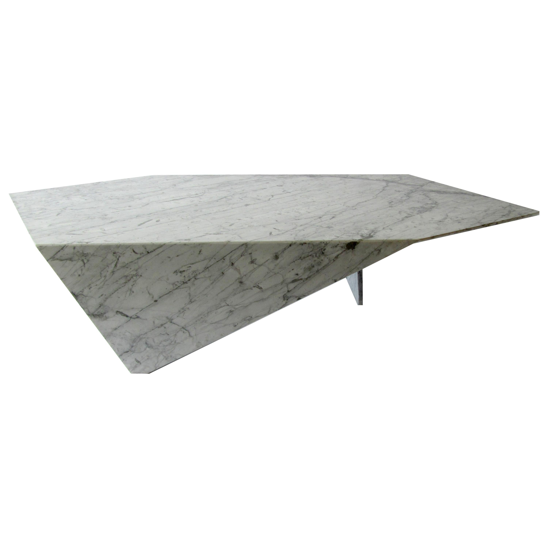 Italian Modern Carrara Marble Coffee Table, Minotti