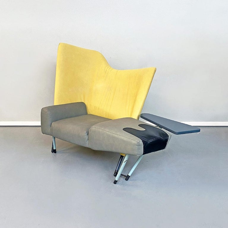 Mid-Century Modern Italian Modern Chaise Lounge Mod. Torso by Paolo Deganello for Cassina, 1980s For Sale
