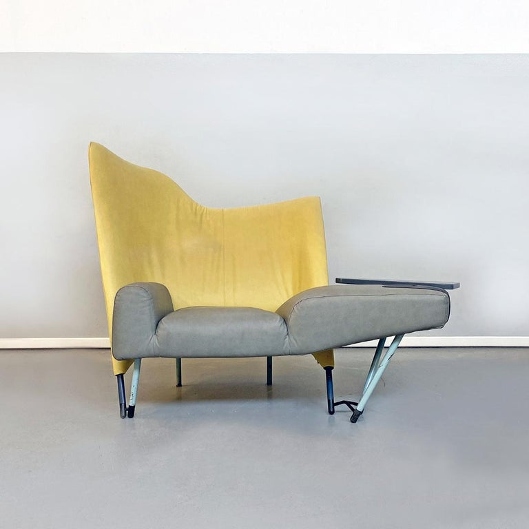 Italian Modern Chaise Lounge Mod. Torso by Paolo Deganello for Cassina, 1980s In Good Condition For Sale In MIlano, IT